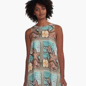 New Designer A-Line Coastal Shore Dress